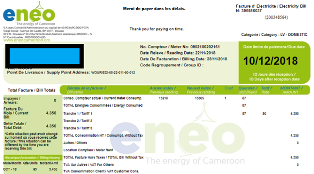 Eneo Cameroon S A : The energy of Cameroon - MyEasyLight, your e-agency